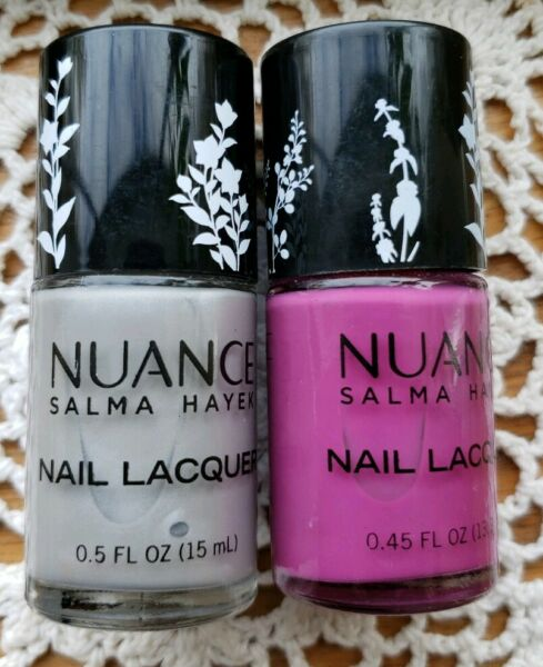 Two (2) Nuance ~ Salma Hayek Nail Lacquer ~ Moonbeam 525 & Wild Orchid 520 ~ 6
