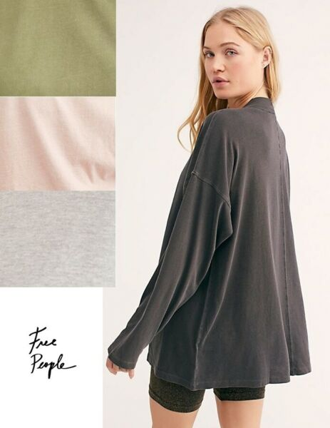 NWT Womens Anthropologie We the Free People Long Sleeve Tunic Top