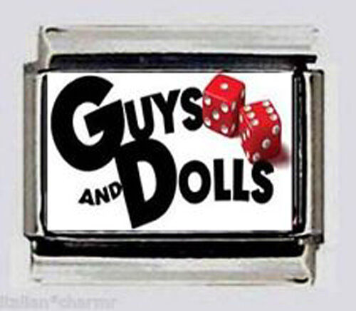GUYS AND DOLLS the Musical Italian photo 9mm charms for modular bracelet