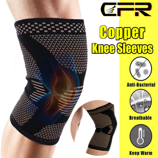 Knee Brace Support Compression Sleeves Copper Arthritis Recovery for Men
