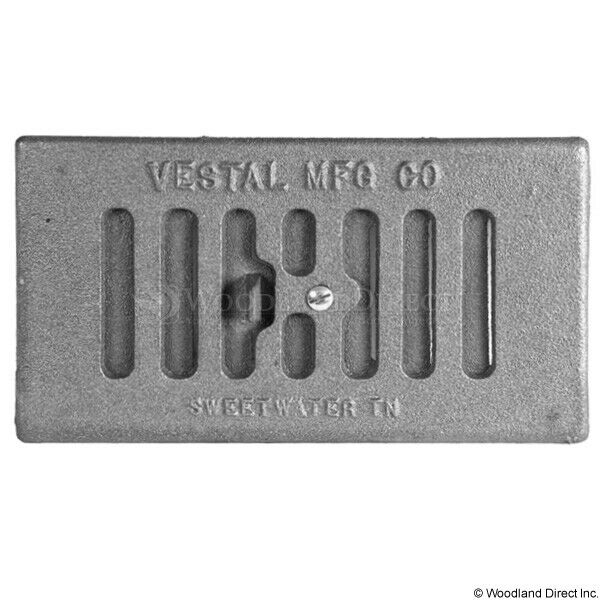 Vestal Fireplace Cast Iron Clean Out Door with Outside Air Shutter 9.5quot; x 5.25quot;