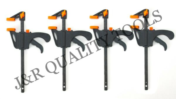 4pc Quick Grip 4quot; F woodworking Clamp Clip Heavy Duty Wood Carpenter Tool Clamp