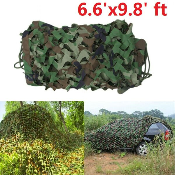 2x3 Meters Camouflage Netting Military Army Camo Hunting Shooting Hide Cover Net
