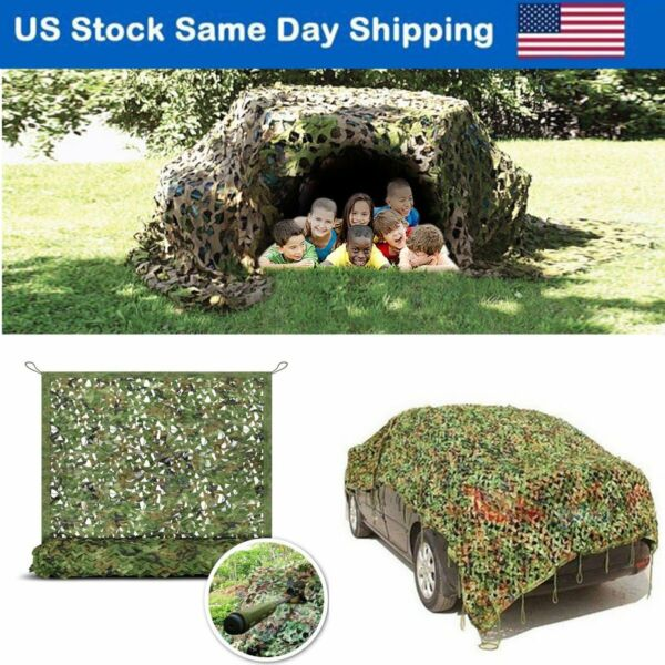 Camo Netting Woodland Military Camouflage Mesh Netting Camping Hunting Car Cover