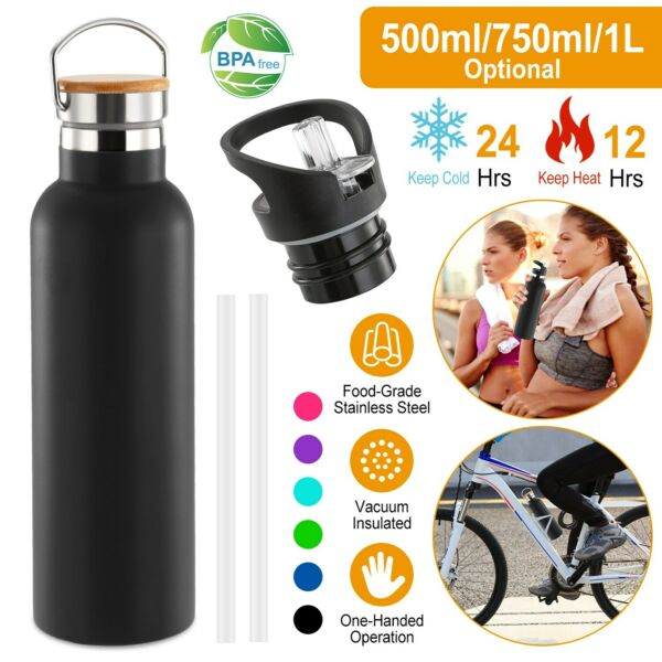Stainless Steel Water Bottle Wall Vacuum Insulated Sports Travel Water Flask $13.41