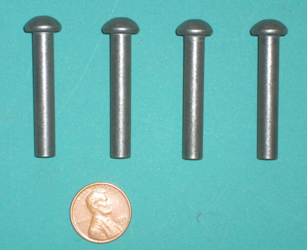 FOUR Door Hinge Pins Wood Stove amp; Fireplace Insert 1 4quot; x 1 1 2quot; solid steel $12.49
