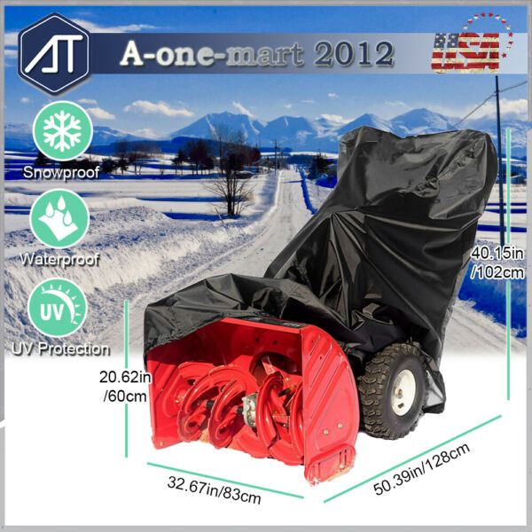 Two Stage Heavy Duty Snow Blower Cover Waterproof Snow Thrower Protective Cover