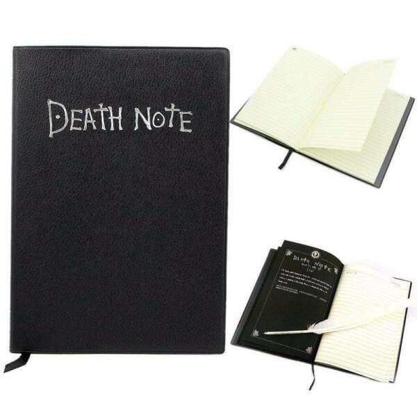 DEATH Note book amp; Feather Pen Writing Journal Anime Theme Cosplay Death Note