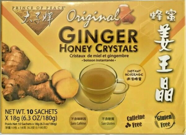 1 2 3 Boxes Prince of Peace Original Ginger Honey Crystals Instant Beverage $16.49