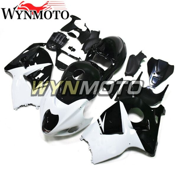 White Black Fairings for Suzuki GSXR1300 1997 98 99 00 01 02 03 04 05 06 2007