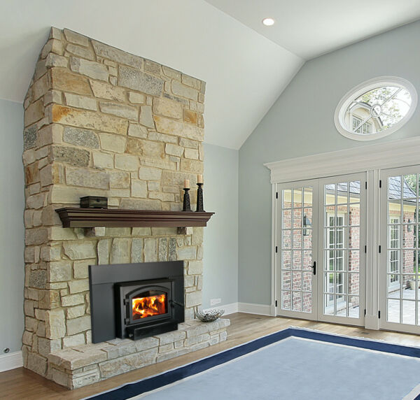 Empire Archway 1700 Wood Insert Fireplace with Blower to Circulate Heat