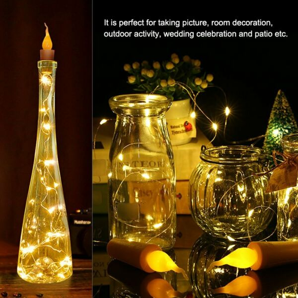 20LED Lights 2m Flame Candle Fairy String lights for Party Holiday Decoration