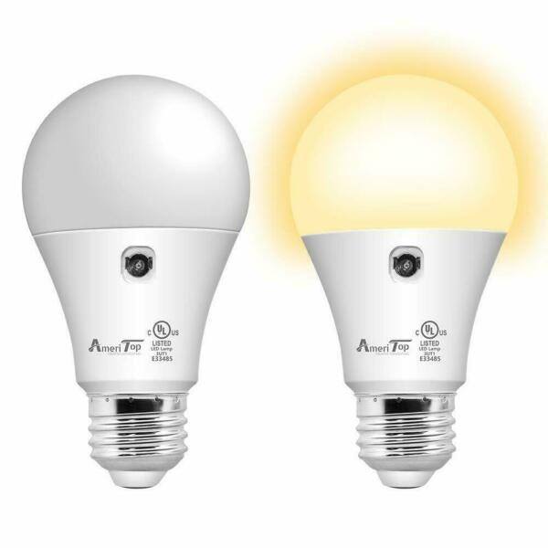 Sensor Lights Bulb Dusk to Dawn LED Light Bulbs Smart LightingWarm White 2Pack