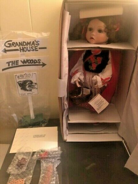 """Marie Osmond Dolls 17"""" quot;Little Red Riding Hoodquot; Storybook Series With COA NIB"""