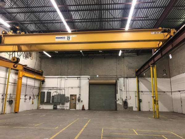 20 TON OVERHEAD CRANE PICK UP ONLY $52000.00