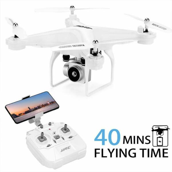 40 Mins Flight Time Drone, JJRC H68 RC Drone with 720P HD Camera Live, Fast Ship