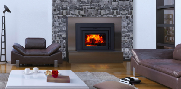 Supreme Fusion 18 Wood Burning Fireplace Insert with Built-In BBQ Grill