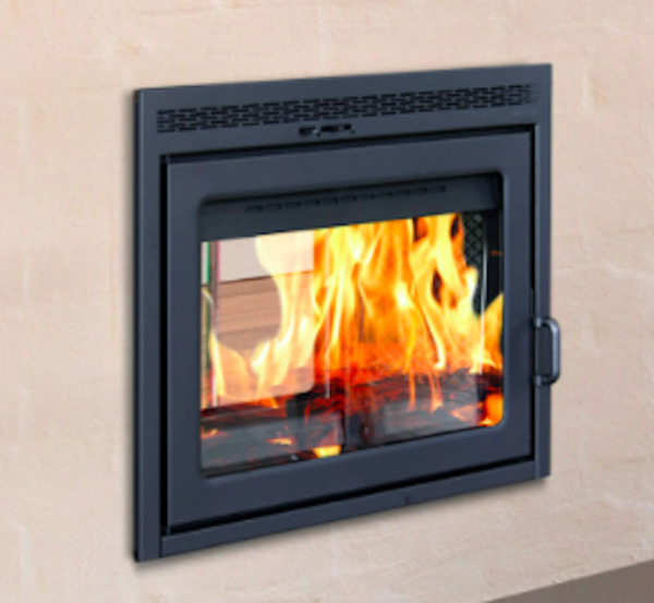 Supreme Duet See Through Wood Burning Fireplace with Built-In BBQ Grill