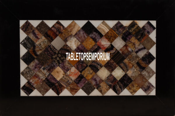 6#x27;x4#x27; Marble Conference Table Marquetry Custom Inlay Stone Hallway Decorative $4568.20