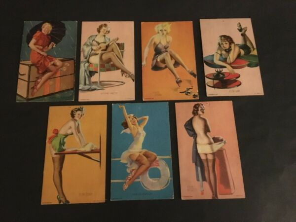 1940 MUTOSCOPE EXHIBITARCADE PIN UP GIRLS   7 DIFFERENT