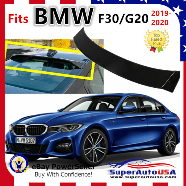 Fit For BMW G20 3-Series 2019-2020 Glossy Black JDM Style Rear Roof Spoiler