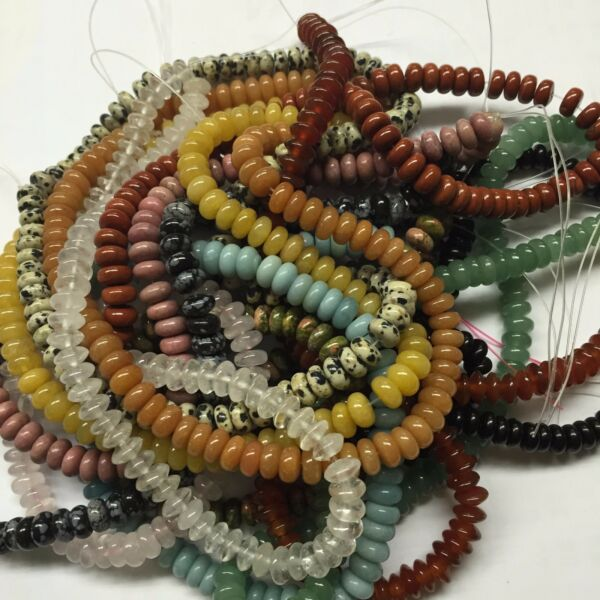 Natural Gemstone Rondell Beads 15.5quot; per strand $10.00