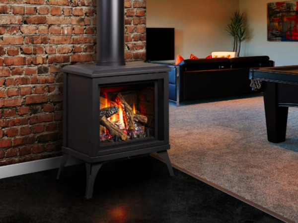Kingsman FDV200S Free Standing Direct Vent Gas Stove Fireplace with Millivolt