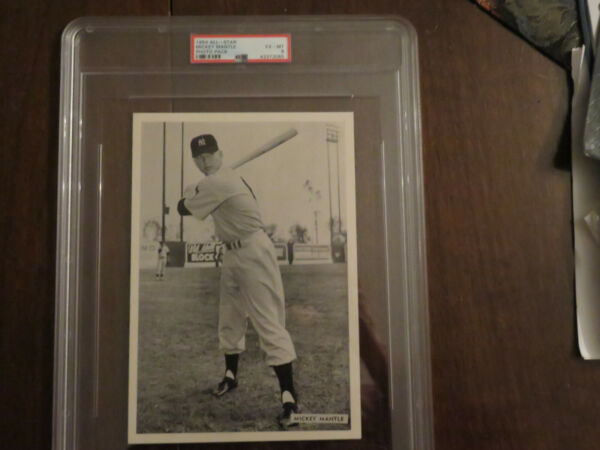 1954 All-Star Photo pack Mickey Mantle PSA 6 (pop 1 none higher)