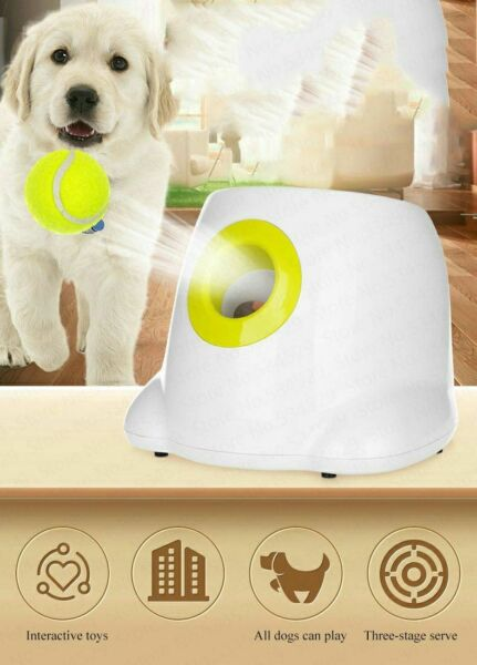Machine Pet Ball Dog Pet Toys Tennis Launcher Automatic Throwing Device Emission
