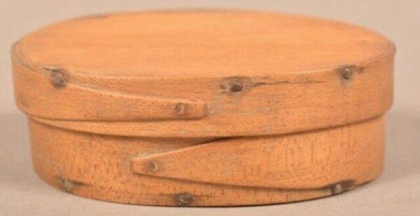 Antique 19th Century Small Oval Bentwood Pantry Box