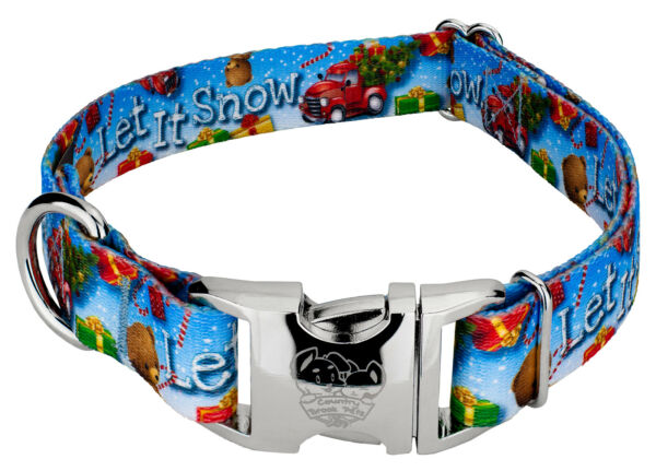 Country Brook Design® Premium Let It Snow Dog Collar