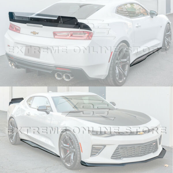 Refresh ZL1 Track Style Front Lip Side Skirts & Rear Spoiler For 16-Up Camaro