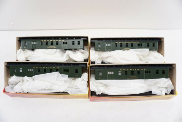 Roundhouse 50' Overland Mail Car Seaboard Air Line Railway Passenger HO Set of 4