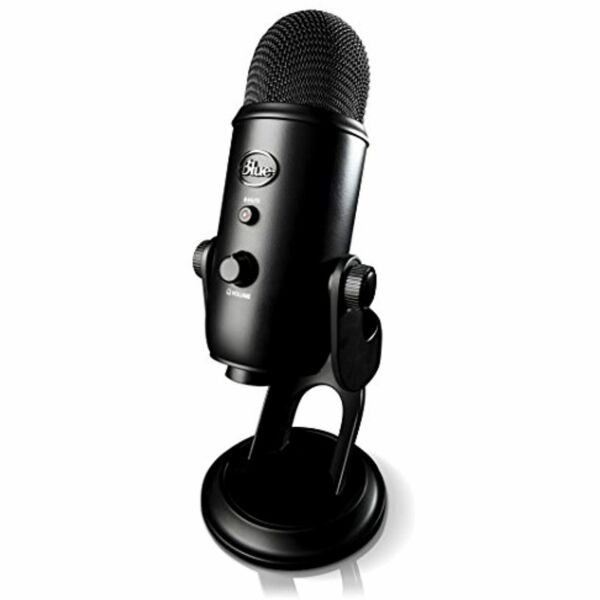 Blue Yeti USB Microphone Streaming & Recording MacPC (Pro Mic) Blackout Edition