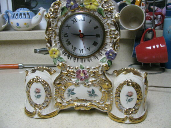 Vintage American Beauti-Lamp Mantel Clock with Sessions movement