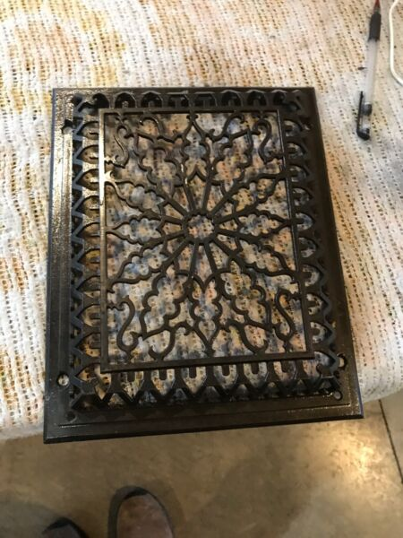 Tk 36 Cleaned And Lacquered Cast-Iron Heating Grate Face 9 58 X 11.75