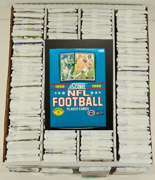 LOT OF (144) 1990 SCORE NFL SERIES 2 TRADING CARD PACKS---NEW FACTORY SEALED