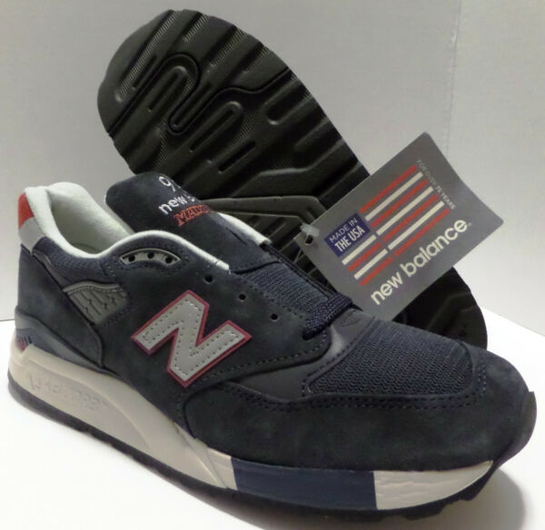 J Crew X New Balance 998 Mens Size 8 8.5 M998JC1 Navy Suede Sneakers Made In USA