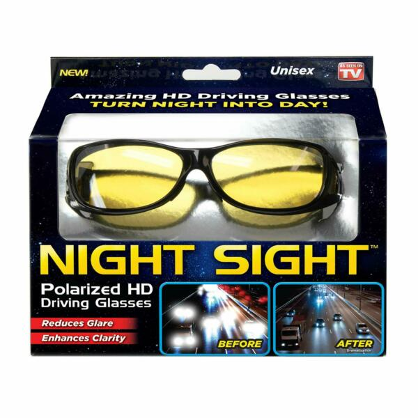 Ontel Night Sight Polarized HD Driving Glasses, Night Vision - As Seen On TV NEW