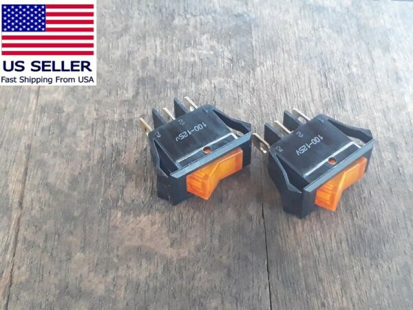 2 Heater Toggle Switches for Twin Star Fireplaces # 18EF010GAA 18EF003GAA