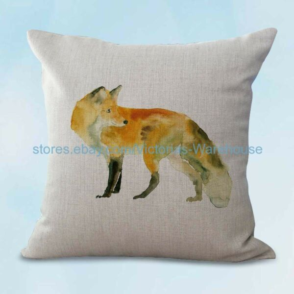 fox animal cushion cover slipcovers for throw pillows $12.96