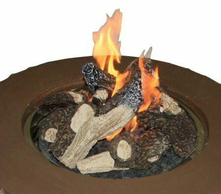 Outdoor Great Room Log Set for Fireplaces with CF-1224 Burner