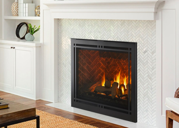 Majestic Meridian Platinum 42 Direct Vent Gas Fireplace with Log Set