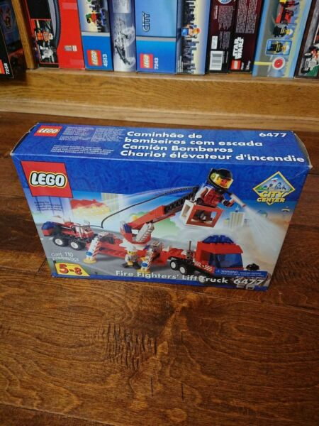 Lego Town Jr Fire Set 6477 Fire Fighter#x27;s Lift Truck New Complete Sealed