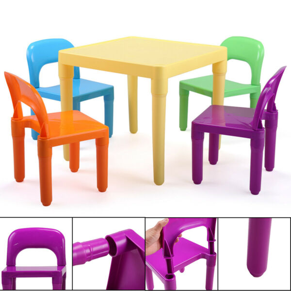 Kids Table and Chairs Play Set Child Toy Activity Furniture Indoor Outdoor