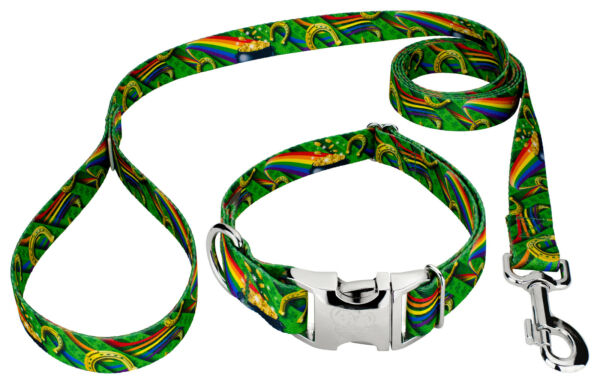 Country Brook Petz® Premium Leprechaun#x27;s Fancy Dog Collar and Leash $19.95