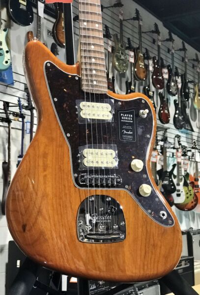 New Limited Fender Player Jazzmaster Aged Natural Electric Guitar Auth Dealer