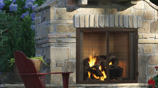 Majestic Castlewood 42 Outdoor Wood Fireplace with Stainless Steel Grate $2669.00