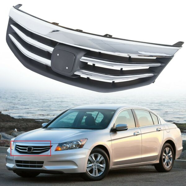 For Honda Accord 2011-2012 Radiator Bumper Grille Front Upper Chrome Grill
