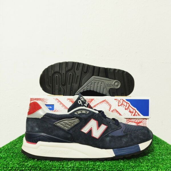 J Crew X New Balance 998 M998JC1 Navy Suede Sneakers Made In USA Size 7.5